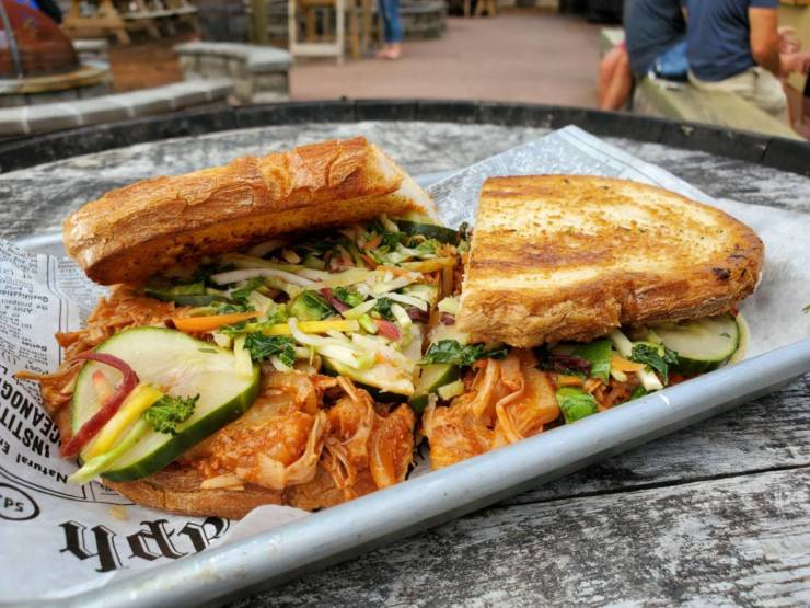 BBQ Vegan Jackfruit Sandwich for World Vegetarian Day