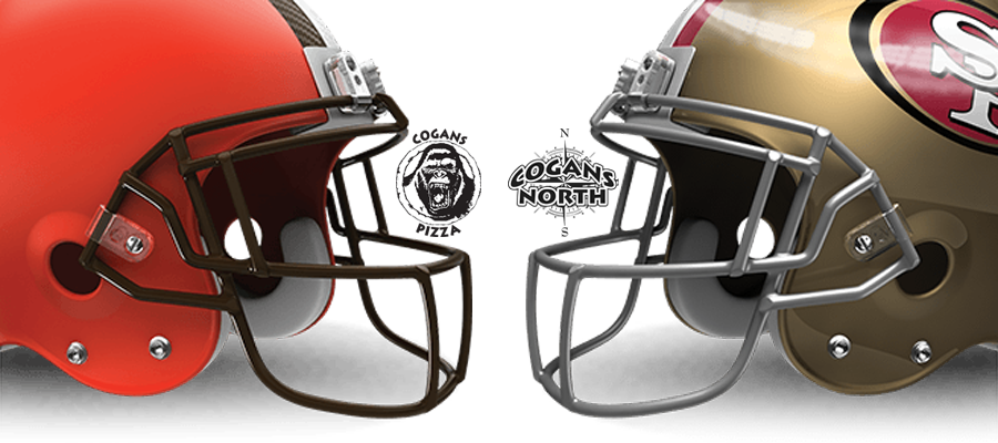 Browns vs. 49ers @ Cogans Tonight!