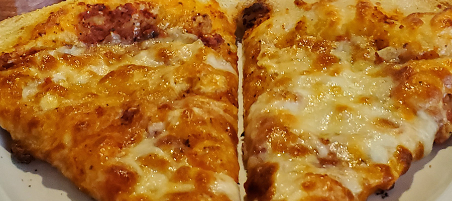 Cogans cheese pizza slices