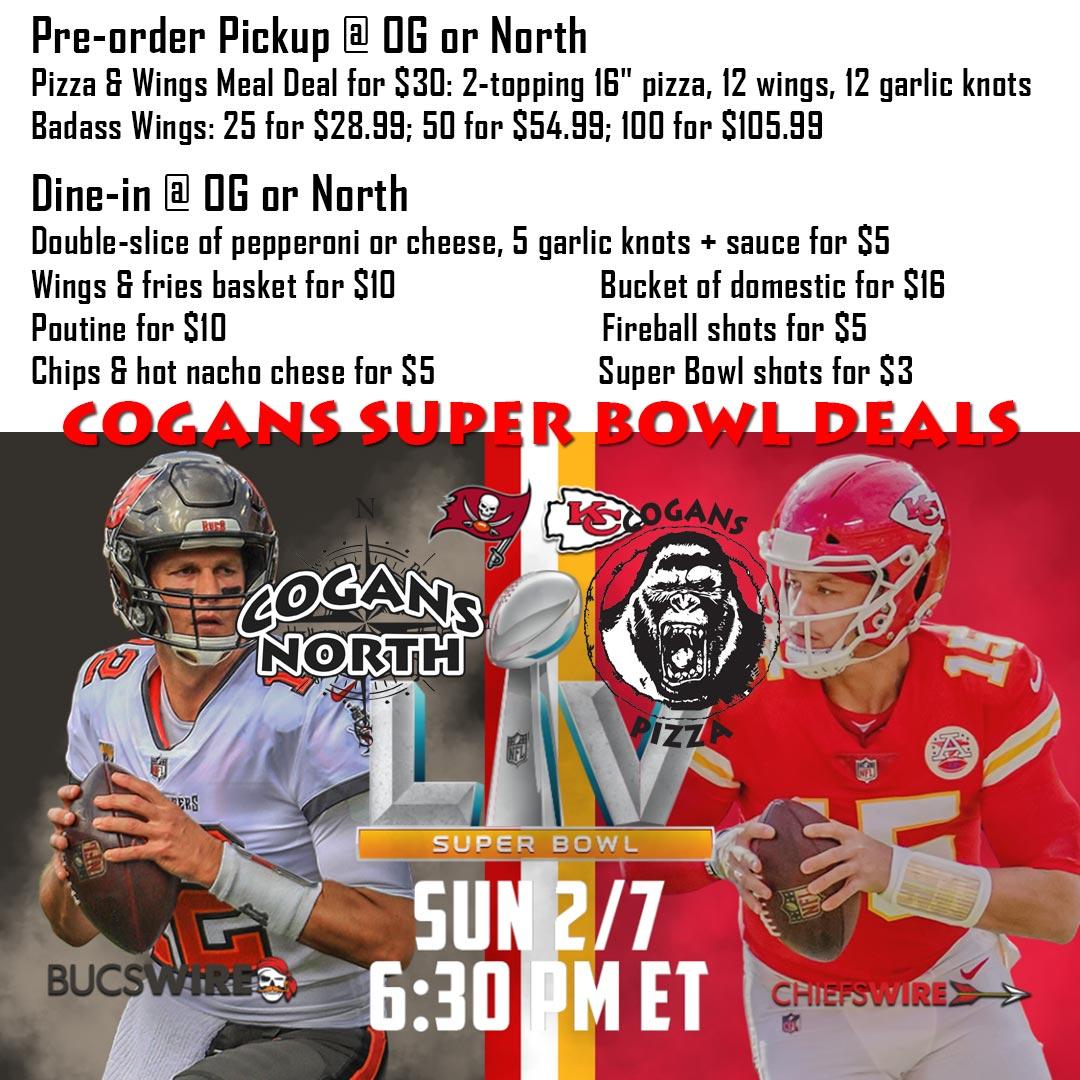 Super Bowl LV Deals @ Cogans