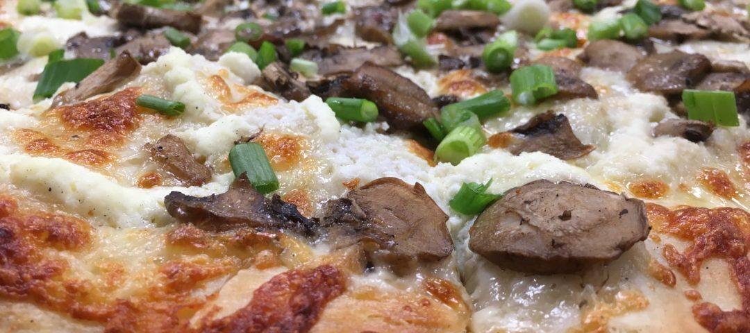 Cogans wild mushroom pizza