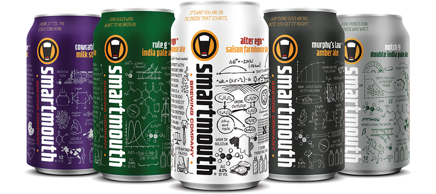 Smartmouth beer cans