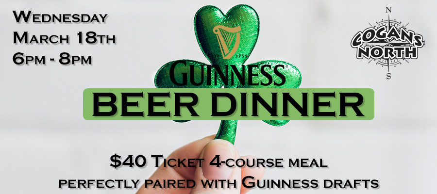 Do you have your tickets for the Guinness Beer Dinner?