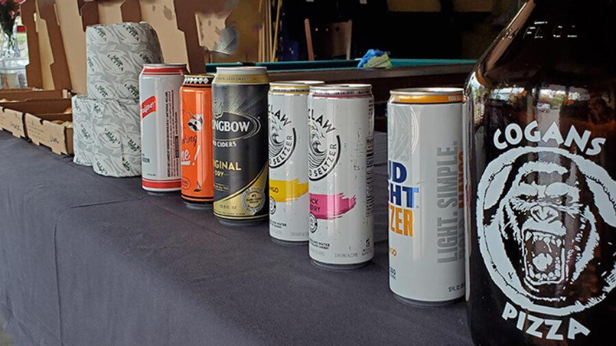 Necessaries Party Tent at Cogans (pizza, beer, TP!)