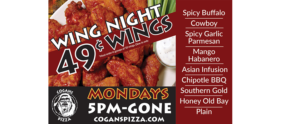 Monday Special @ North: 49¢ Wings