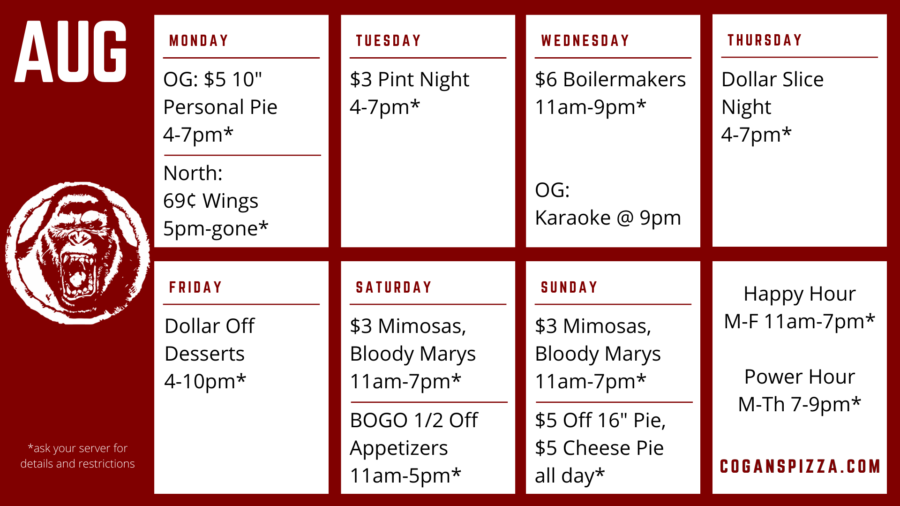 What's on special this week at Cogans?