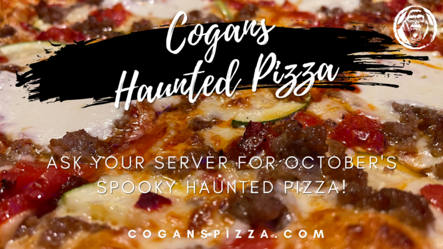 What's on Cogans Haunted Pizza?