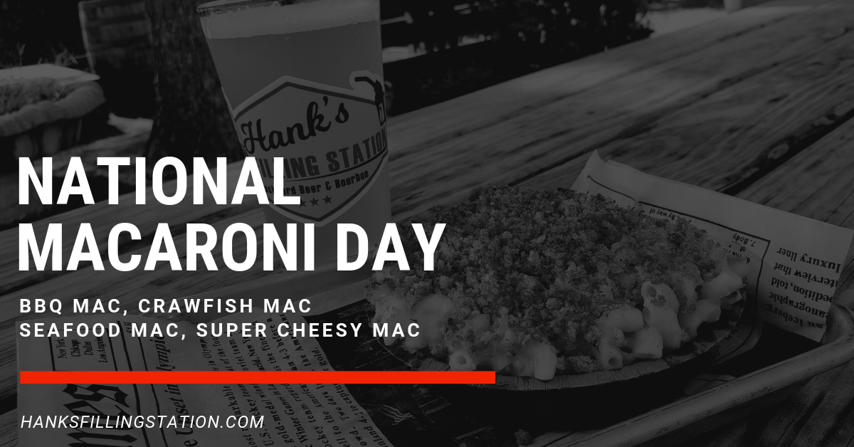 It's cheesy goodness day