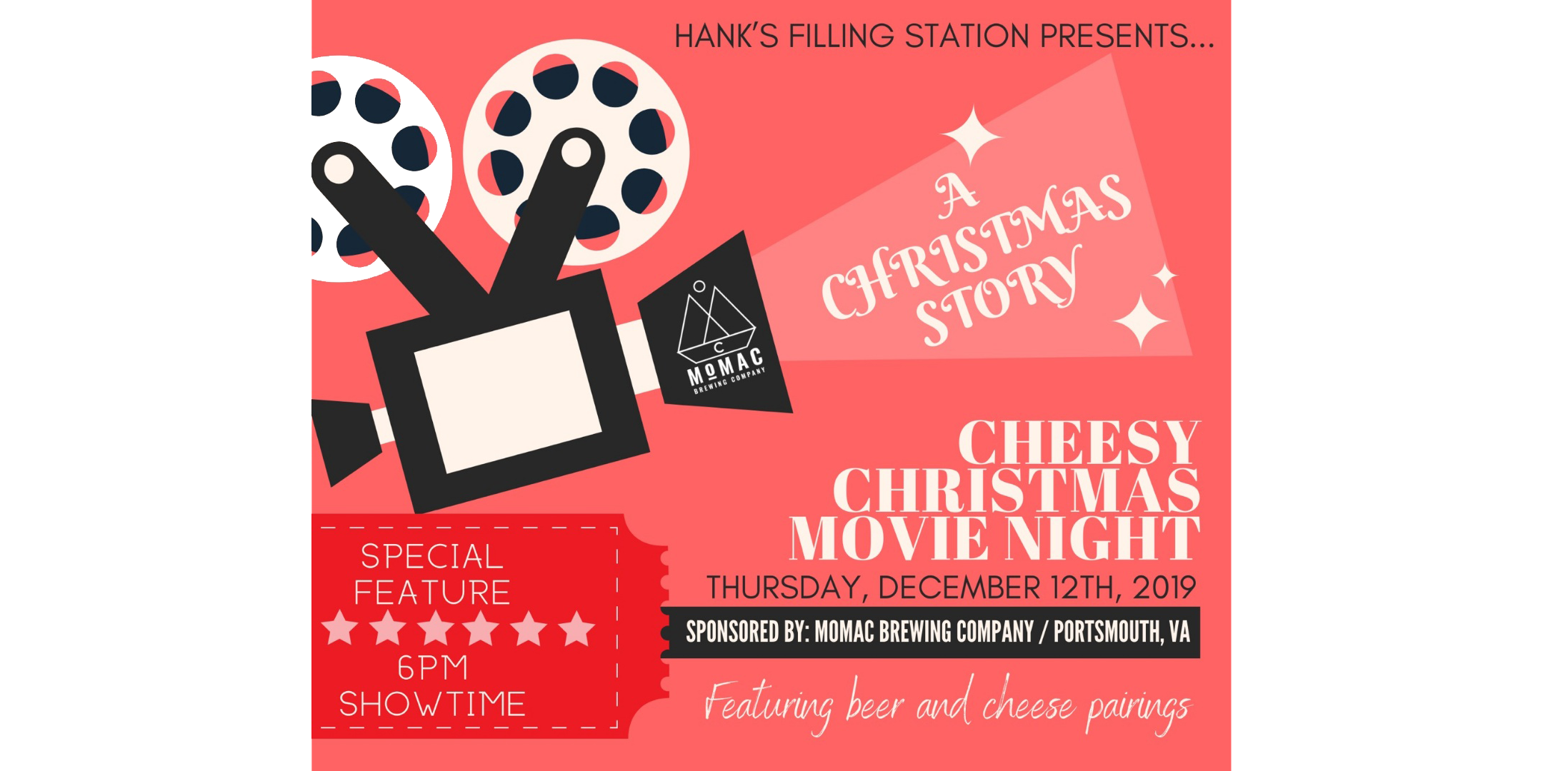 Cheesy Christmas Movie Night with Momac Brewing