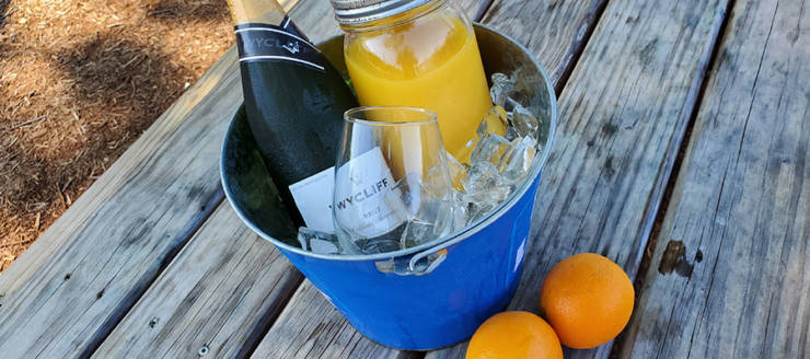 $12 Mimosa Buckets 🥂 are perfect for Sunday brunch