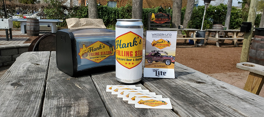 Hank's gift cards, crowler, Trader Lager
