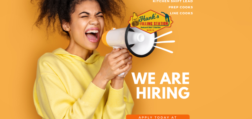 Hank's is hiring. We're looking for you!