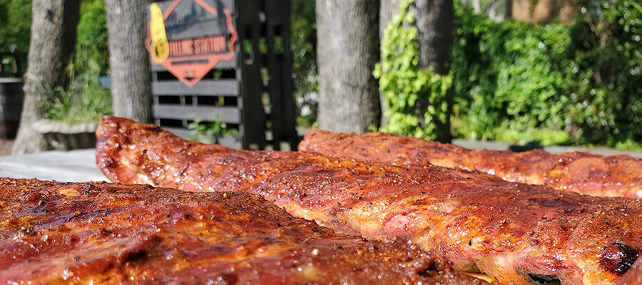 Your backyard smoked ribs are ready