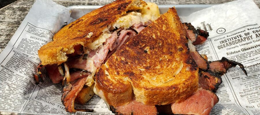 Hangin' out with Hank's Pastrami Reuben